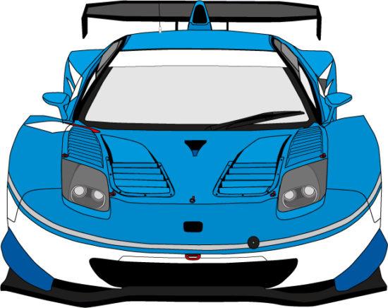 レーシングカーをイメージする絵