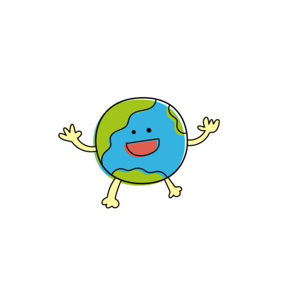 地球グミをイメージする絵