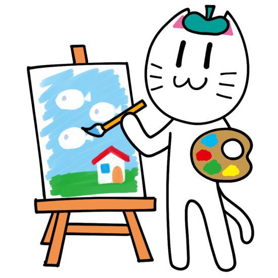 漫画家をイメージする絵