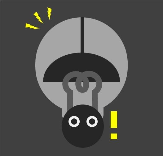 埼玉県の停電をイメージする絵