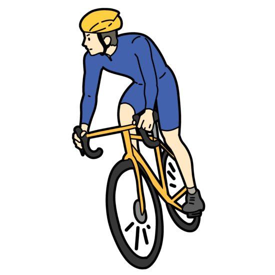 自転車競技をイメージする絵