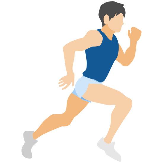 マラソン選手をイメージする絵