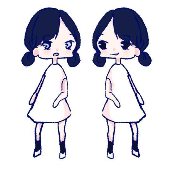 今田美桜と小池鉄平をイメージする絵
